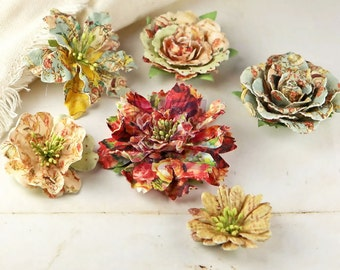 Prima Flower - Romantique Jardinere Mulberry Paper Flowers