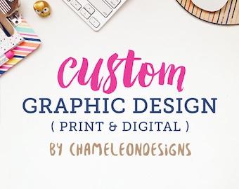 Custom graphic design work, freelance graphic designer