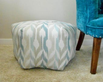 Pouf Ottoman - Floor Pillow - Moroccan Foot Stool, Seat, Pouf