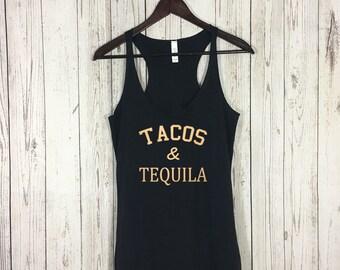 Tacos and Tequila, Tacos and Tequila Tank, Tequila Tank, Tacos Shirt, Workout Tank, Fitness Tank, Fitness, Yoga, Running Shirt, Gym Tank