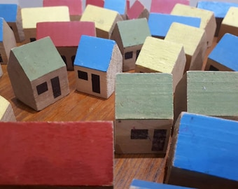 Vintage Wooden Town Houses