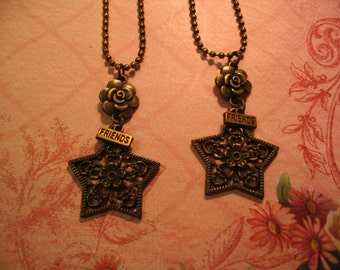 Friends Bronze Star Necklaces for Friendship or Sisters Gift