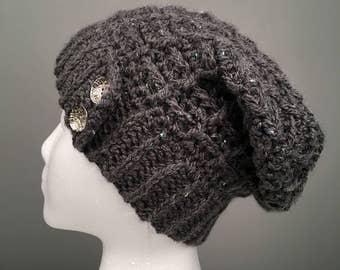 WOMEN'S EMORY Slouch Hat, Women's Hat, Women's Slouchy Beanie, Women's Accessories, Crochet Slouchy Hat, Crochet Beanie, Hat for Women.