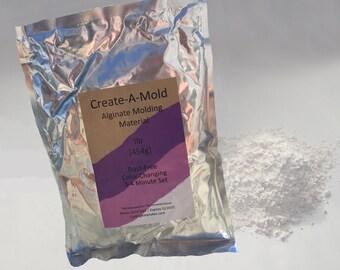 Create-A-Mold Craft Alginate Molding Powder - Impression Material for Life Casting - 1lb