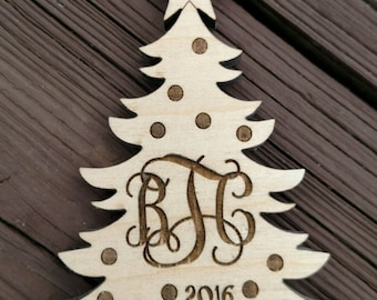 Christmas Tree Ornament / personalized Chrismas Ornament / Personalized Holiday Ornament / Christmas Ornament  / Laser Cut Ornaments