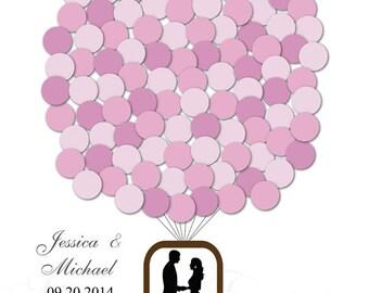 Hot Air Balloon Guest book Wedding Signature Poster Guest book Guest Sign in Guest Book Alternative Personalized Wedding Custom Wedding