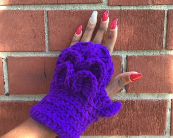 Fingerless Gloves made with acrylic yarn handmade accessorie
