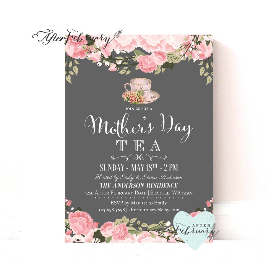 Mother\'s Day Invitation // Mother\'s Day Tea Party
