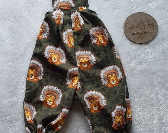Lion Boys Overalls - Boys Overalls - Baby Boy Clothing