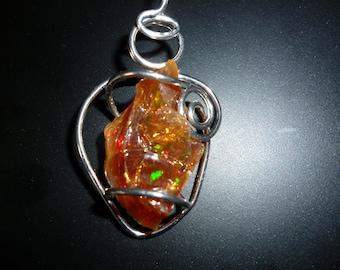 YELLOW Opal pendant, or fire opal