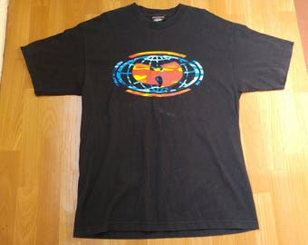 WU WEAR t-shirt, hip-hop jersey, vintage, official authentic Wu Tang Clan 90s hip hop clothing, 1990s Wu-Tang rap, size xxl 2XL, Made in USA