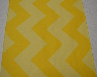 Yellow Tone-on-Tone Eco Friendly Wide Chevron Table Runner