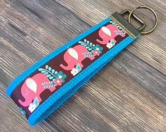 Elephant Key Fob Wristlet / Key Chain