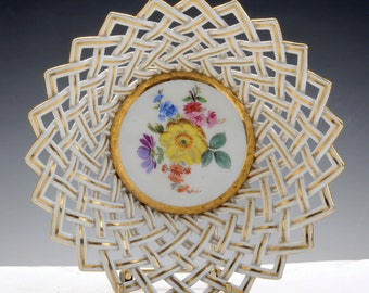 meissen porcelain reticulated bowl | c. 1880 (restored)