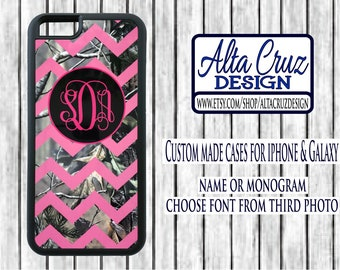 Personalized Chevron Camouflage cell phone case, iPhone or Galaxy, name or monogram #120