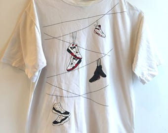 Jordan T-Shirt - Runners Hanging From Wiress (Med/Small)