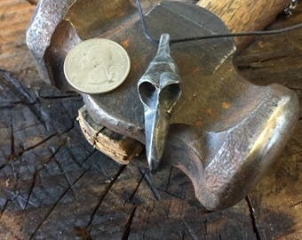 Hand Forged Bird Skull