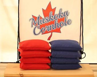 """Sacs Cornhole officiel   6 """"x 6» 10 oz canard toile ensemble maïs fourrager"""