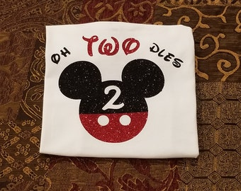 Oh-TWO-Dles Mickey Mouse Birthday Shirt