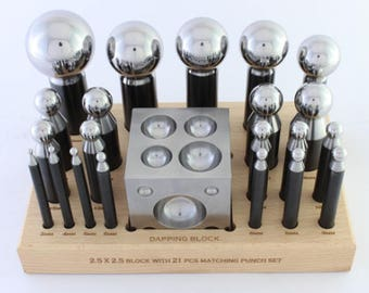 Doming Set 23PC Combined Standard & 5pc Jumbo Punch Set Jewellers Doming Set
