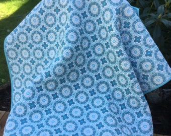 Quilt baby child cover up crib playmat handmade by machine hand guided free motion quilted boy girl toddler