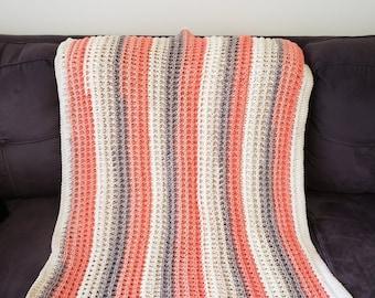 Hand crocheted lap blanket