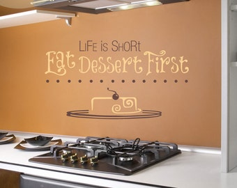 Life is Short Quote -- Vinyl Wall Decal