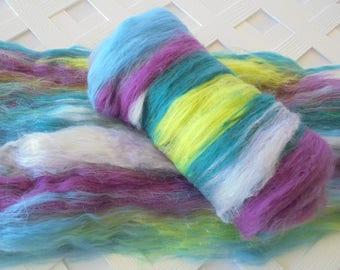 SUMMER'S END Art Batts, Luxury Spinning Batts, Batts for Spinning, Batts for Felting, Merino Top, Merino Roving, Spinning Silk, Nuno Felt