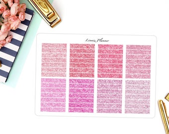 PINK Glitter Headers (Matte planner stickers, fits perfect in Erin Condren Life Planner)