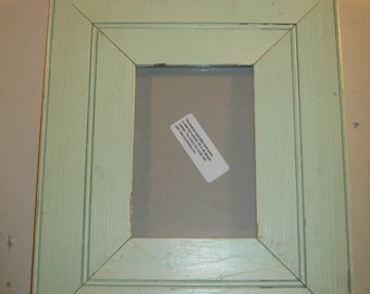SHABBY ARCHITECTURAL Chic Salvaged Recycled  Wood Photo Picture Frame 5x7 S 182-12