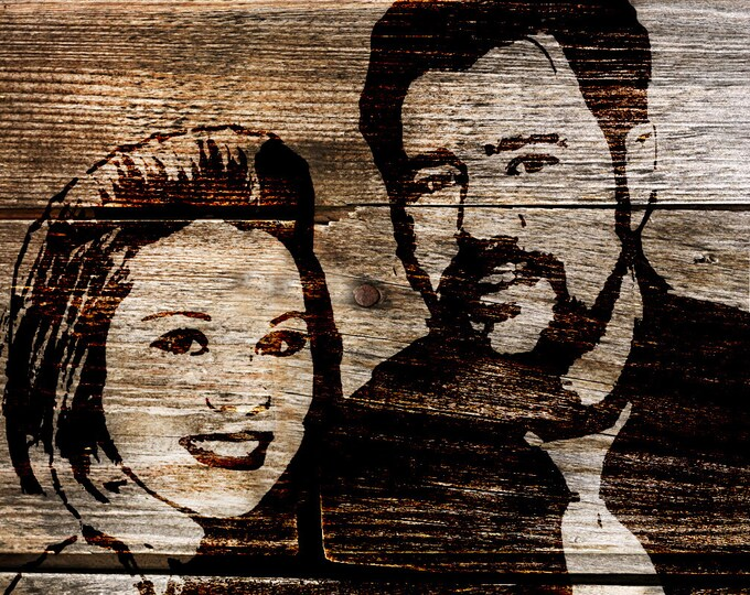 Gift For Couple, 5th Anniversary Gift, Wood Print, Photo on Wood, Couple Portrait, Photo Gift, Parents Anniversary, Family Portrait 16x20