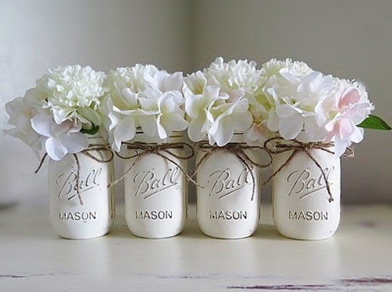 Baby Shower Decorations Mason Jar Centerpieces Rustic Home