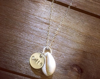 Cowrie Seashell 'Salty' Sterling Silver Necklace