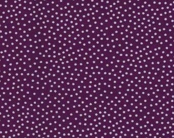 Mini patchwork polka dot purple 54cmx22 cm fabric coupon