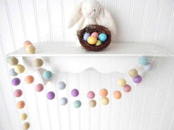 Easter pom garland