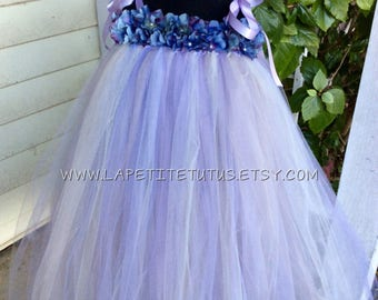 Mix tulle  floral tutu dress, tutu dress, pearl centers, infant tutu dress, toddler tutu dress, photo prop, tutu, clothing, girls tutu dress