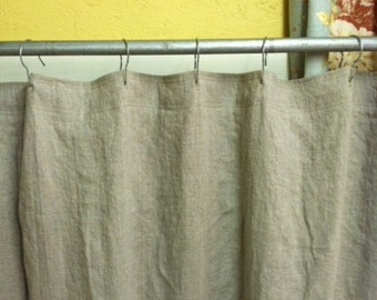Heavy Weight Washed Linen Standard Shower Curtain 76 78 Wide
