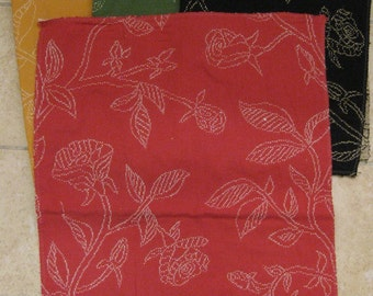 Pindler Clara Embroidered Floral Toile Designer Fabric Samples 4 Pieces Lot