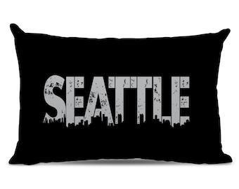 Seattle Pillow - Seattle Skyline Pillow - City Pillow - Urban Throw Pillow - Seattle Gift - City of Seattle