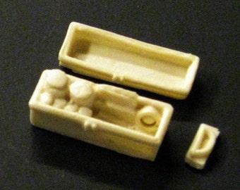 1:25 scale model resin police car crime scene fingerprint kit