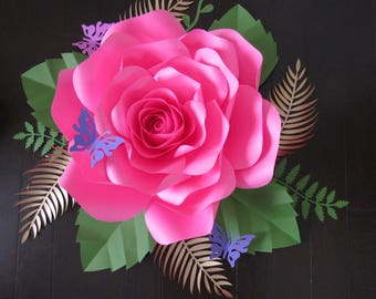 HARD COPY Template 3 Large Paper Flower