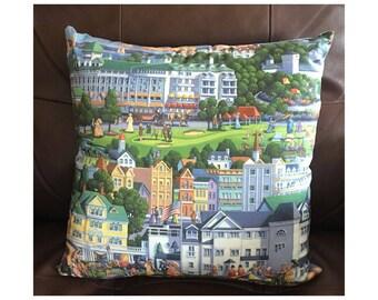 Mackinaw Island Michigan Throw Pillow
