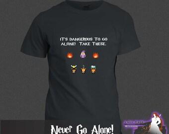 Harry Potter - Never Go Alone!  (Unisex/Ringspun/Ladies) Tshirt HP