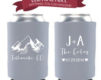 Mountain Destination Cooler Favors Wedding Party Gifts Wedding Anniversary Party Gifts Custom Beverage Can Cooler 3D145