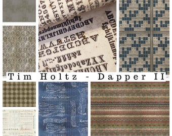 Tim Holtz - Dapper - Eclectic Elements - Fat Quarter Bundle
