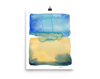 Color Field 2 / Art Print of Minimalist Watercolor Painting