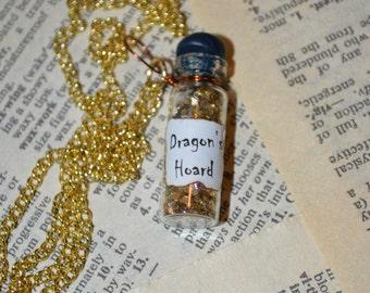 Dragon's Hoard Bottle Charm Necklace