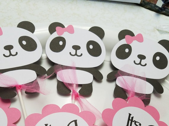 Panda Cupcake Toppers Panda Bear Baby Shower Panda Bear