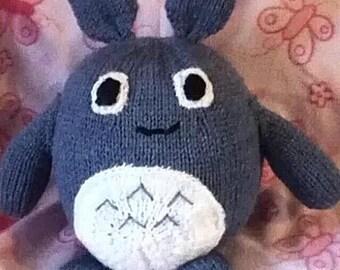 Totoro Knitting Pattern inspired by Japanese Anime