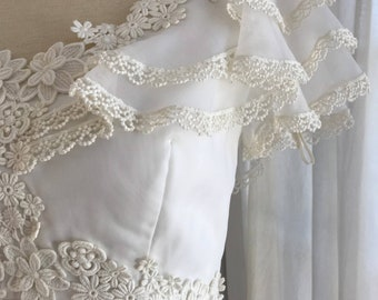 1970s Vintage Boho Bridal Gown / Woodland Wedding Dress / Hippie Boho Bridal Gown / Rustic Wedding Dress / 1970s Bridal Gown / Casual Bridal